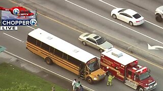 Students taken to hospital after school bus crash in West Palm Beach