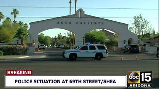 Police situation at 69th Street and Shea Blvd - Video