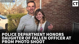 Police Dept. Honors Daughter of Fallen Officer at Prom Photo Shoot - Video