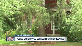 Police: Car stopped connected with burglaries - Video