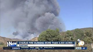 Charlie fire burning more than 3,300 acres in Castaic