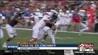 Tulsa Golden Hurricane fall to Cincinnati Bearcats, 24-13; 5 turnovers by QB Zach Smith