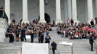 Anti-Kavanaugh Protesters Arrested on Capitol Steps - Video