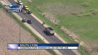 Construction worker killed in accident in South Lyon - Video
