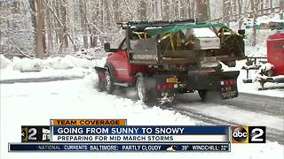 Preparing for mid March snow - Video