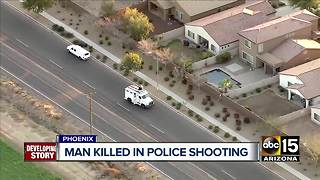 Suspect dies following shooting with Phoenix police - Video