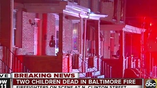 2 children killed in Baltimore fire - Video