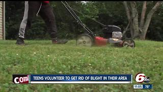 Teens volunteer to get rid of blight in their community - Video