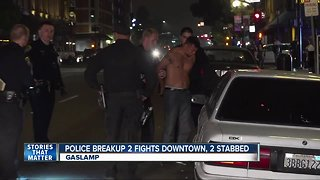 Police break up two fights in downtown San Diego