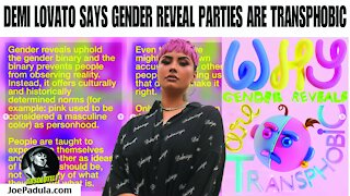 No Demi Lovato, Gender Reveal Parties are NOT Transphobic