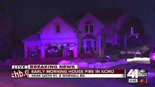 KCFD firefighter, family safe after their home catches fire - Video