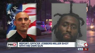 Fort Myers Police Officer shot by suspect with his own gun - Video