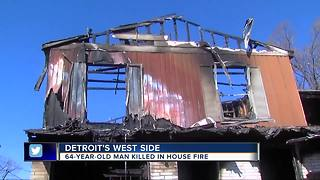 One killed in Detroit house fire overnight