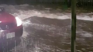 Bemused Residents Watch as Street Floods in Mexico City - Video