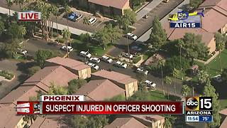 Suspect hurt in west Phoenix officer-involved shooting - Video