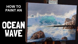 How to Paint an OCEAN WAVE