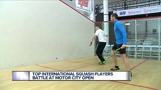 Top international squash players battle at Motor City Open - Video