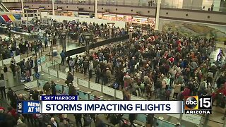 Storms impact flights at Sky Harbor