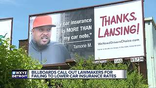 Billboards around metro Detroit blame lawmakers for failing to lower car insurance ratesoo