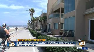 Battle over vacation rentals shaping up in Mission Beach