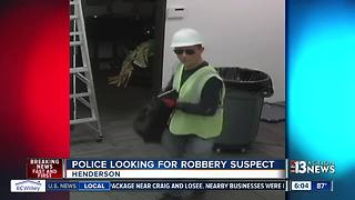 Henderson robber poses as construction worker - Video