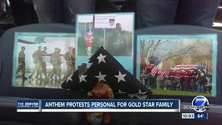 Colorado Gold Star family protests NFL players who kneel during the national anthem - Video