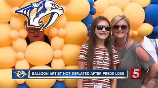 Popular Balloon Artist Not Deflated After Preds Loss - Video