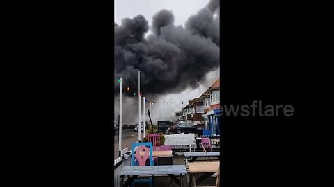 Police issue warning as massive fire breaks out on Hove industrial estate
