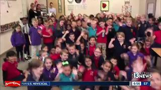 KTNV meteorologist Justin Bruce visits students at Doral Academy - Video