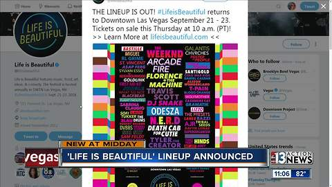 Life is Beautiful announces lineup for 2018 festival in downtown Las Vegas
