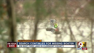 Search continues for missing boater