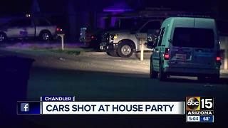 Cars shot at house party in Chandler - Video