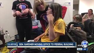 Sen. Cory Gardner moving Denver office after protest arrests - Video