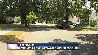Car stolen from driveway after home invasion - Video