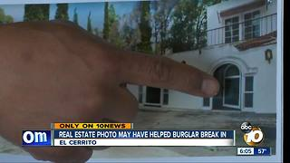 Real estate photo may have helped burglar - Video