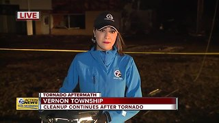 Cleanup continues after tornado in Vernon Township