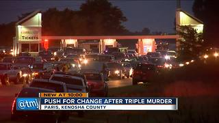 Shooter still at large in triple fatal gang shooting at Great Lakes Dragaway - Video