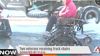 Two local veterans surprised with track chair donations - Video