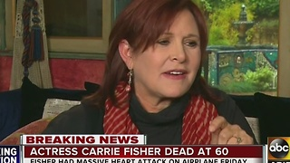 The social media world reacts to the death of actress Carrie Fisher - Video