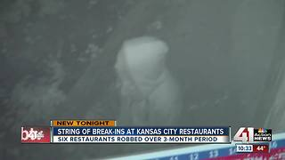 Thief targets several KCMO restaurants - Video