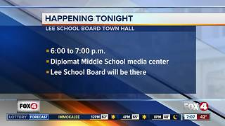 Lee County School Board meeting with parents - Video