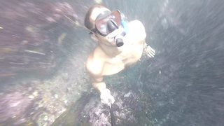 Diver narrowly escapes underwater cave dive