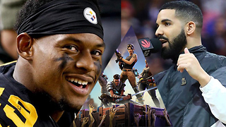 Juju Smith Schuster Teams Up With Drake To DESTROY World Record Playing Fortnite! - Video