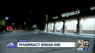 Burglars steal drugs from Phoenix Walgreens, other stores in Peoria and Glendale - Video