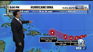 Hurricane Irma 5pm update 9/3/17 - Video
