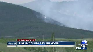 Peak 2 Fire: Hundreds of residents allowed to go back home Friday evening, Undersheriff says - Video