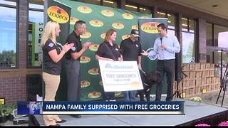 Nampa family surprised with free groceries - Video