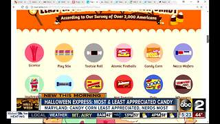 Halloween Express' most/least appreciated candy