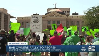 Bar owners rally to reopen