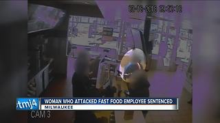 Woman who attacked McDonald's employee sentenced